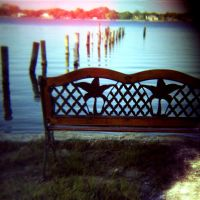 bench by a river by cedmundmiller