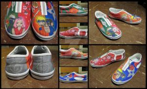 Naruto Shoes by ChemicalRejectBoys
