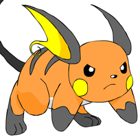 Raichu on all Four by beebarb