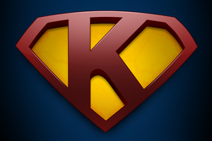 Superman with letter K wallpaper by mirzakS