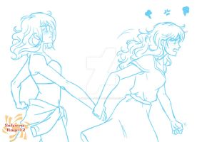 Commiss: R+R Roxette and Ryndy by Sakura-Rose12