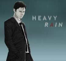 Norman in the rain with blood by Lillilolita