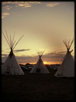 Teepee Sunset by Questa-Durron