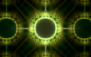 lots of yellowgreen circles by Andrea1981G