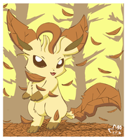 Leafeon does Fall by pichu90