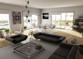 penthouse living room by sedatdurucan