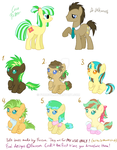 CLOSED! Coco Fritter x Dr Whooves Bred adopts! by Furreon