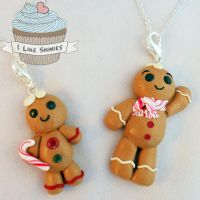Scented gingerbread BFF necklaces by ilikeshiniesfakery
