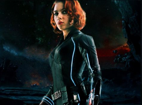 Black Widow in the abyss by HelloBlueMeetsGreen