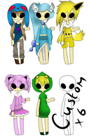 Pokemon Gijinka Auction - OPEN by Piyos-Adoptables
