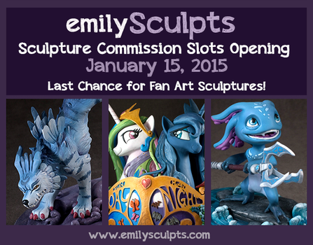 Sculpture Commissions Opening January 15! by emilySculpts