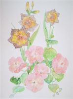 watercolour flowers 3 by jonescrusher