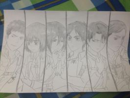 Attack on Titan fan art p2 by raeinspirit7