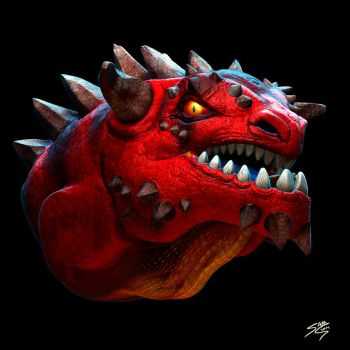 Dragon Head Sculpt by Samholy