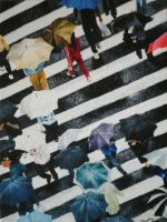 A rainy day at the crosswalk by MrEverythings