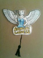 Avenging Lioness Moving Badge by hollyann