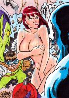 MARY JANE INTERRUPTED IN SHOWER BY VENOM DOC OCK by markman777