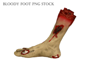 Bloody Foot PNG STOCK by KarahRobinson-Art