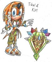 tikal in KH redesign by sonicandsora25