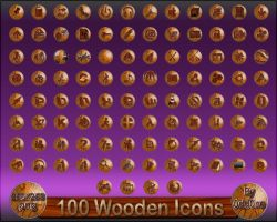 100 Wooden Icons by 0dd0ne