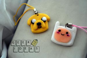 Adventure time! Llaveros para celular by ElianaJaro