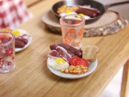 Miniature British Breakfast by PetitPlat