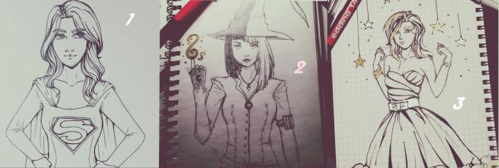 Inktober Day 1-3 by susan-chan