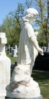 Mount Olivet Cemetery Woman 172 by Falln-Stock