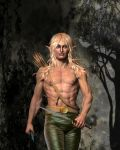 Prepared..Close-up of male elf by Kath-13