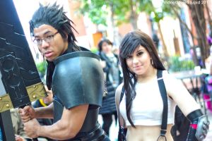 Katsucon 2015 - Zack and Tifa by VideoGameStupid