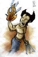 Wolverine On Fire by Getfuck