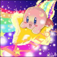 Kirby and the shooting star by SuBiMoRi
