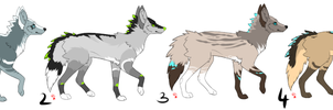 4 Canine Adoptables by Freaky--Like--Vivi