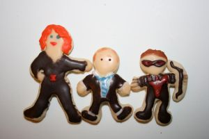 Agents of Shield Cookies by FaerieCarousel
