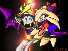 Celeste vs. Meta Knight by NeonCelestia20
