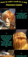 How to Add a Weft to a Wig by TitanesqueCosplay
