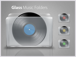 Glass Music folders by D1m22