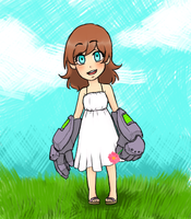 Cute Girl with Mech Arms by Cherry95
