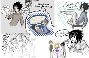 DEATH NOTE paintchats by javvie