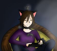 Dev ID: me and my kittens by Astatos-Luna