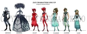 Zat Character Line Up by Sandora