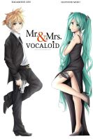 Len x Miku: Mr. and Mrs. Vocaloid by Yubi-Yubi