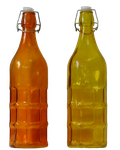 Orange and yellow bottles by HermitCrabStock