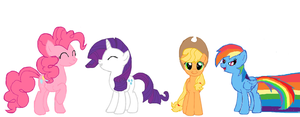 mane four out of six :) by starlightzs