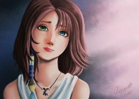 Yuna from FFX - SPEEDPAINTING VIDEO! by Dicenete