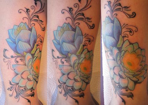 Blue lotus by ThePinkTattoo