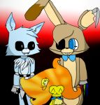 Three OCs at Freddy's   Collab by tiedKat