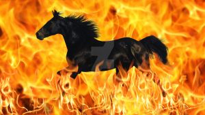 Fire horse - Blend Practice by Tracie-is-a-wolf