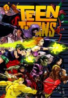 Teen Titans  and Color by Stephane Lemiere by tony-rhodes-gunair