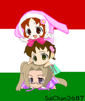 Chibi Hungarian Trio by Apple-Rings